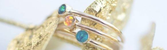 Natural opal rings for sale