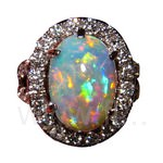 Exquisite Opals and Diamonds Ring