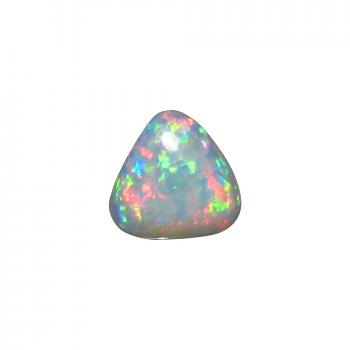 Light Opal Stone Unset Red Blue Triangle Gem