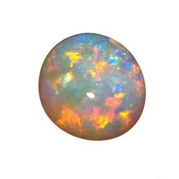 3 Carat High Dome Gem Crystal Opal Red and Blue Oval Stone