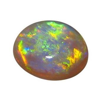 Oval Dark Crystal Opal Unset Green and Gold Gem