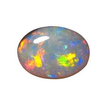 Large Oval Dark Crystal Opal Unset Red Yellow Gem