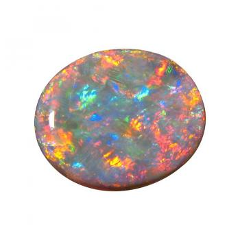 Large Black Opal Stone Unset Red Blue Oval