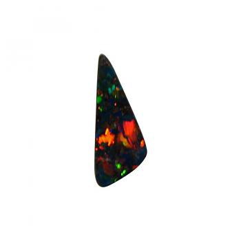 Red Blue Boulder Opal Stone 1.65 Carats Triangle
