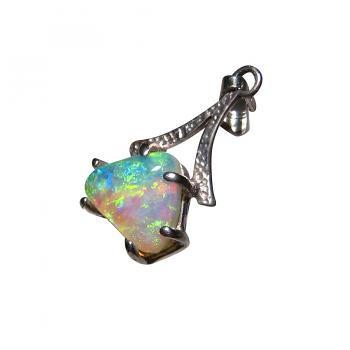 Opal Pendant 925 Sterling Silver Triangle