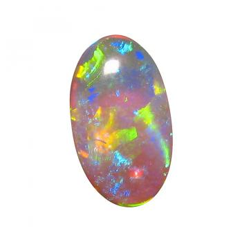 Harlequin Crystal Opal Stone Unset Long Oval