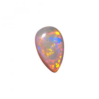 Crystal Opal Unset Red Multi Color Pear Cut