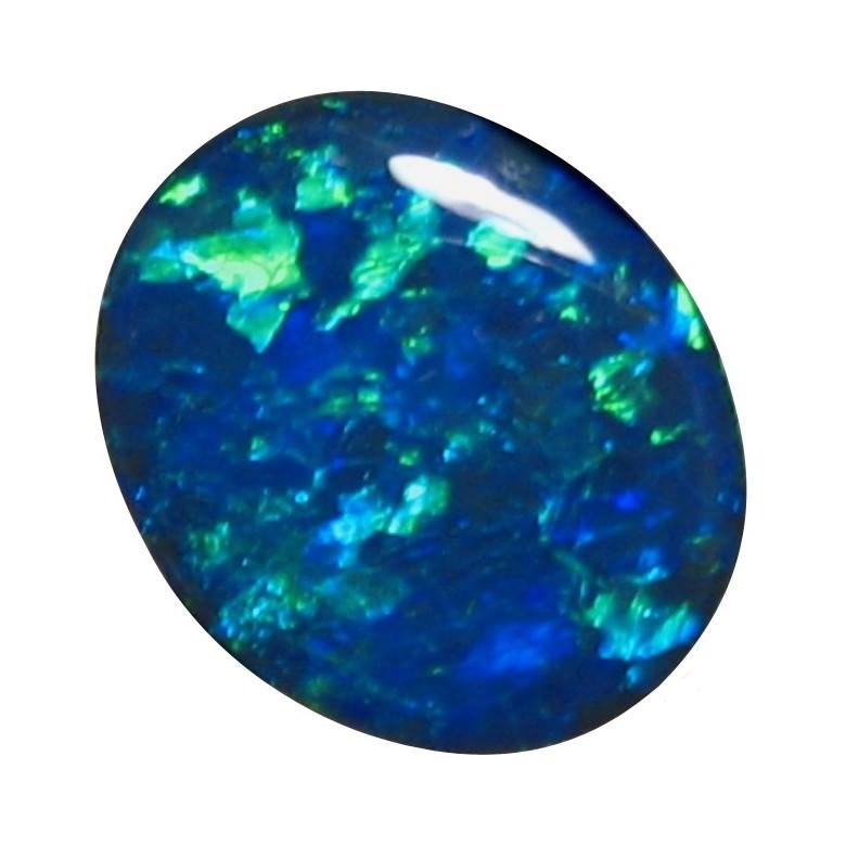 gemstone opals australian oval unset black blue stone opal natural loose