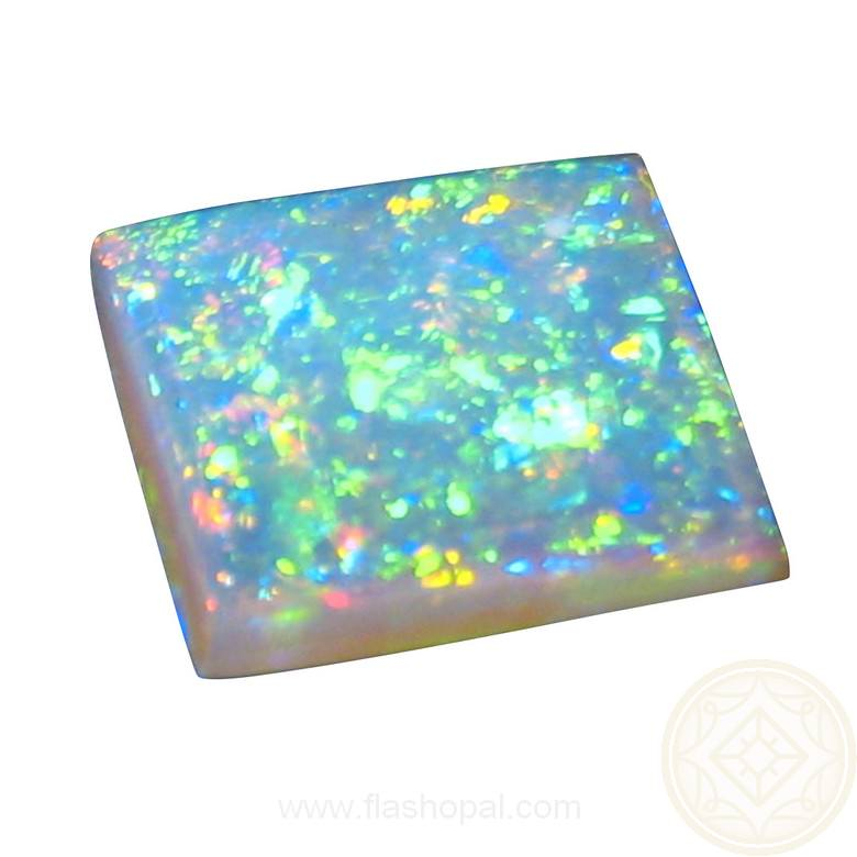 Square Crystal Opal 2 75 Carats Unset Stone Flashopal