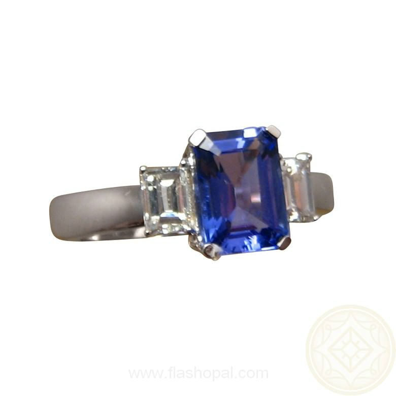 jewelry wixon emerald with halo tanzanite cut jewelers ring diamond