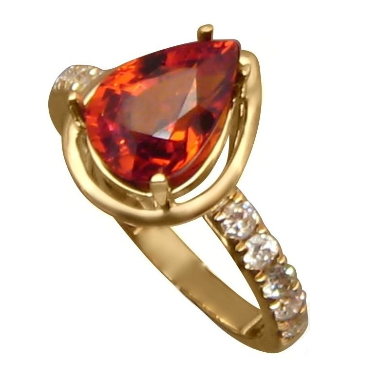 Resultado de imagen para simple orange garnet rings