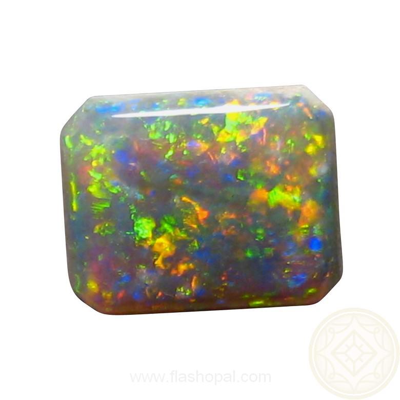 Dark Crystal Opal 2 45 Carats Rectangle Loose Stone