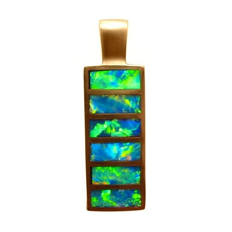 silver inlay multi jewelry sterling pendant in stone