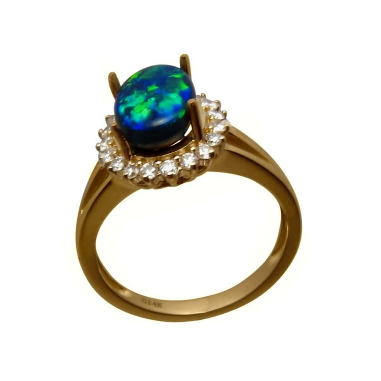 black opal rings for sale real black opal engagement ring - Black Opal Wedding Rings