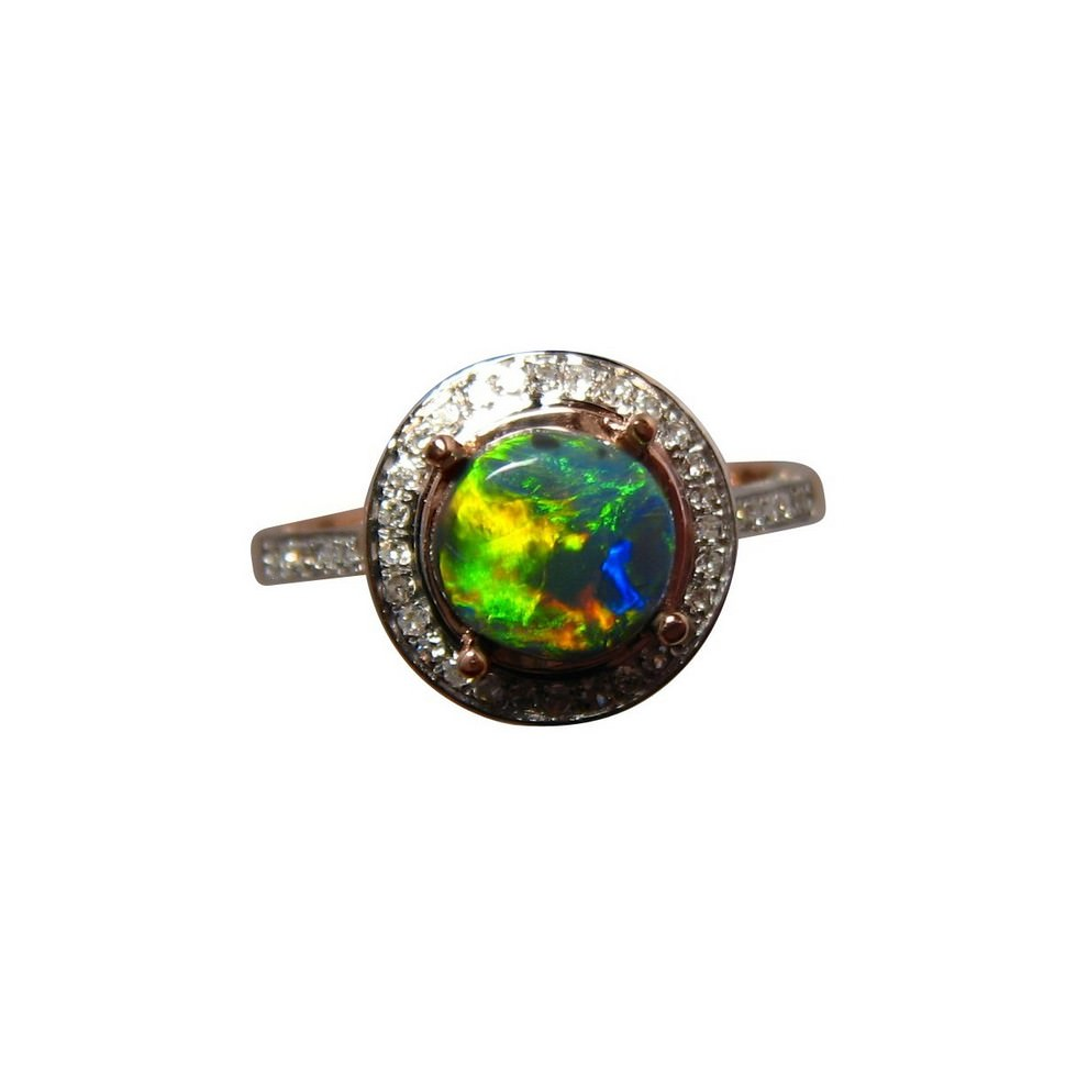 gold ring black rings semi blue with diamond bright engagement diamonds flashopal oval gem opal
