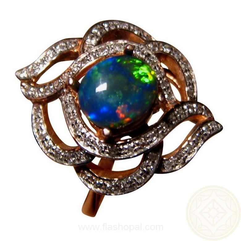 Black Opal Ring Australia