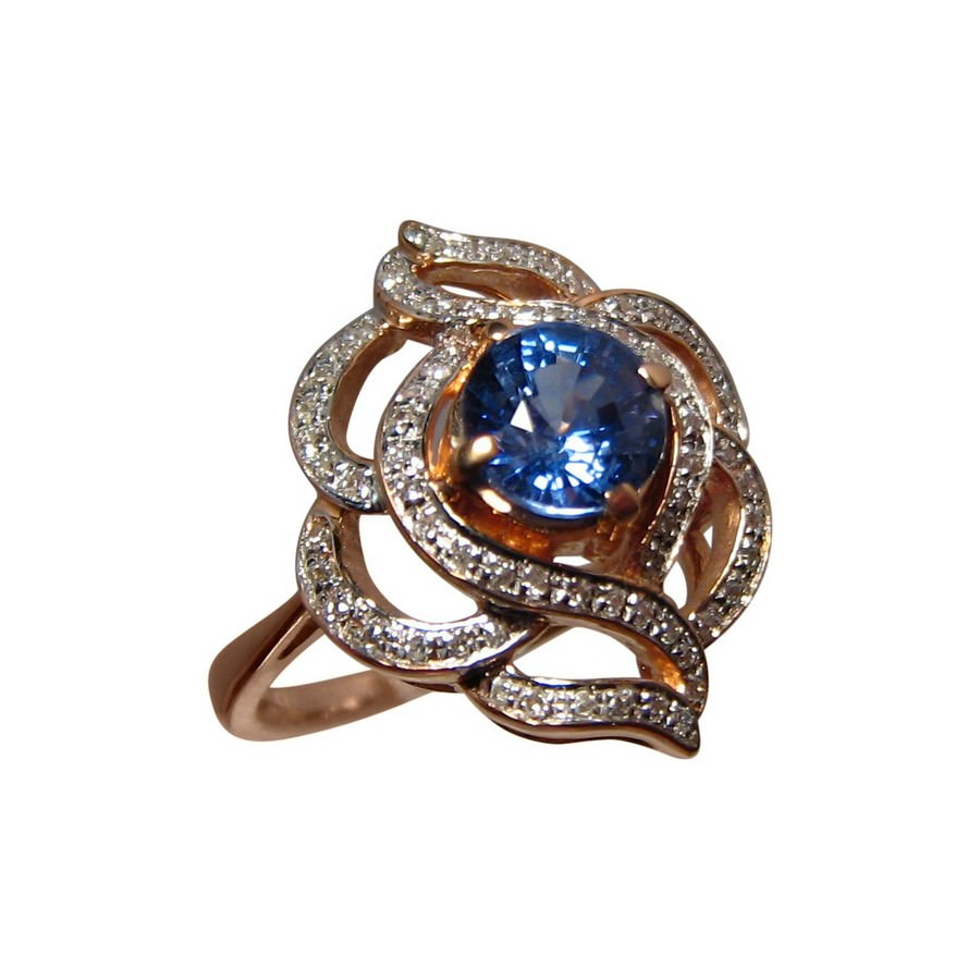 ct ring natural certified cut sapphire white blue kt gia gold diamond ceylon ii oval rings