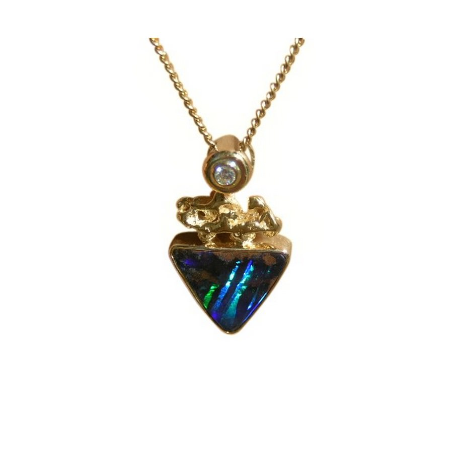 boulder opals pendant gemstones galleries jewellery opal
