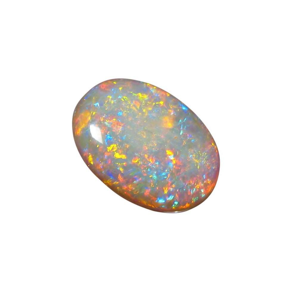 Crystal Opal Unique Colors 11 Carat Oval Natural Opals