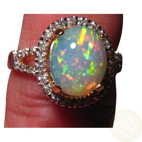 ethiopian opal ring diamonds gold ethiopian opal rings