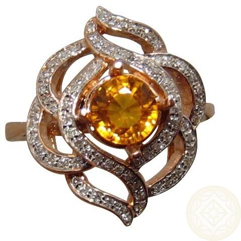 Yellow Sapphire Diamond Ring Fancy Gold Sapphire Rings