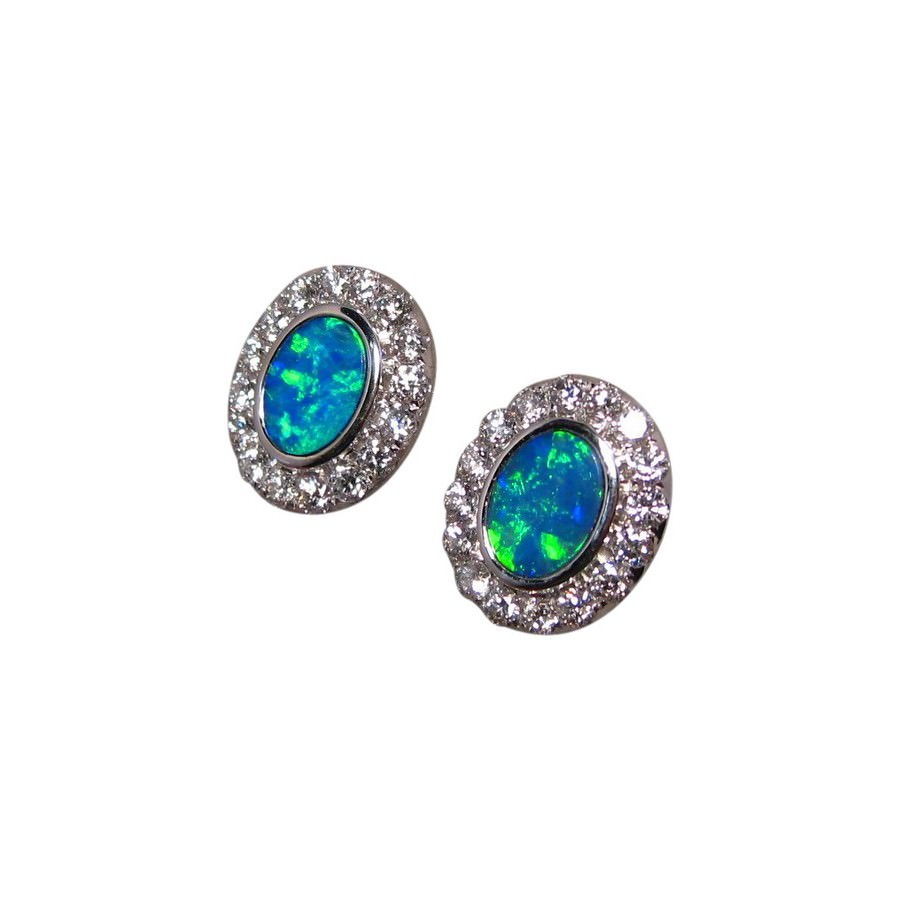 earrings australian short dangler opal jewelry real flashopal drop gold