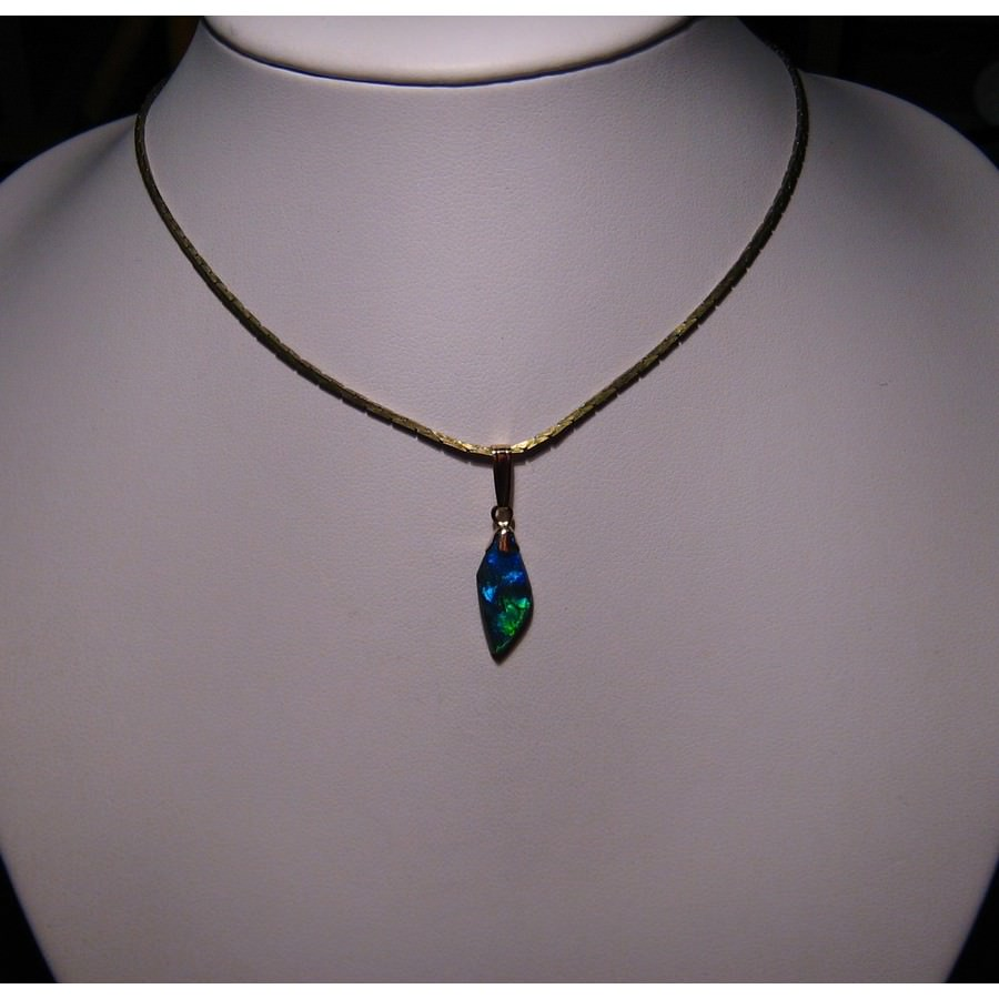 necklace yellow black swirl gold opal jewelers teardrop motion wexford sw