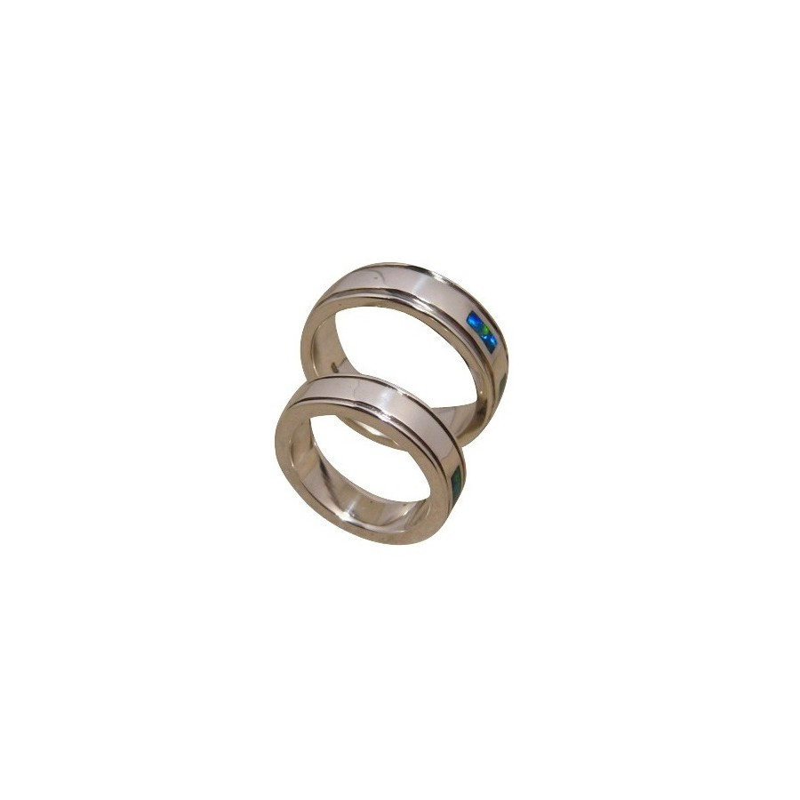 Opal Wedding Band.Matching Opal Rings Wedding Bands In 925 Silver