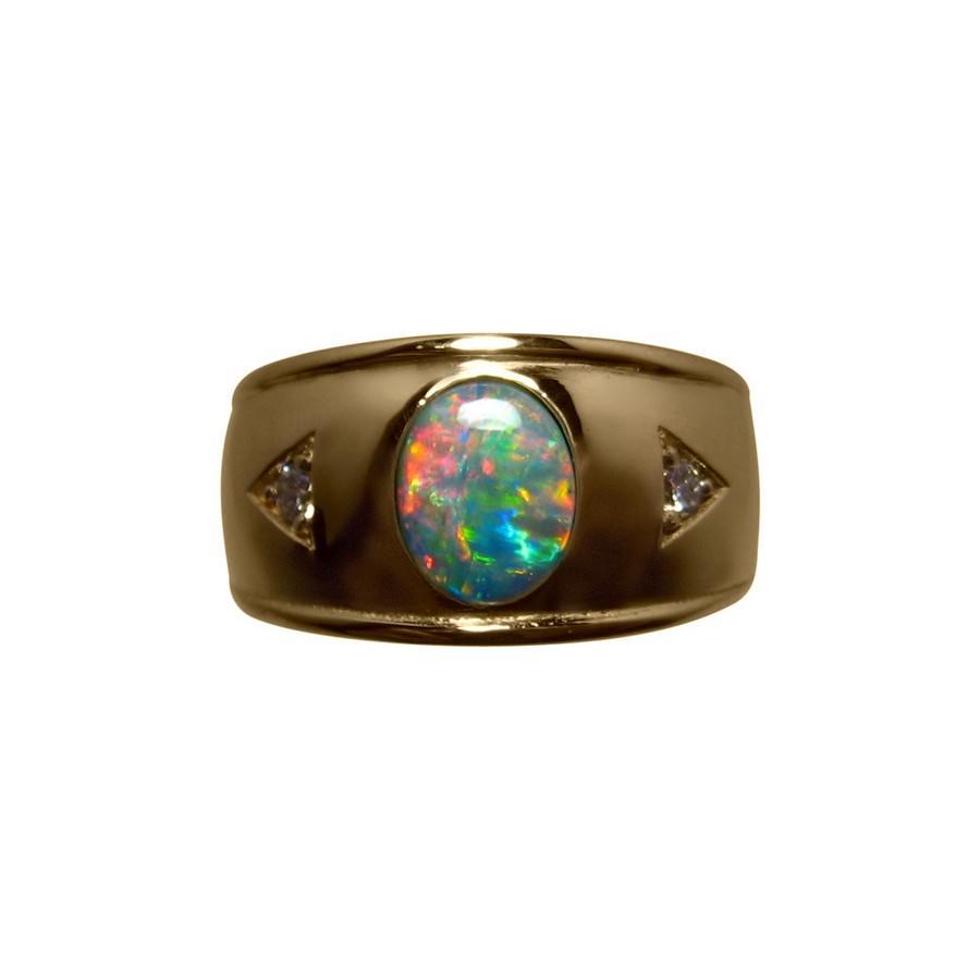 Mens Opal Wedding Rings