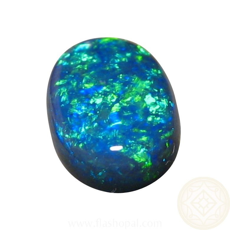 stone opal black oval opals blue australian unset gemstone natural