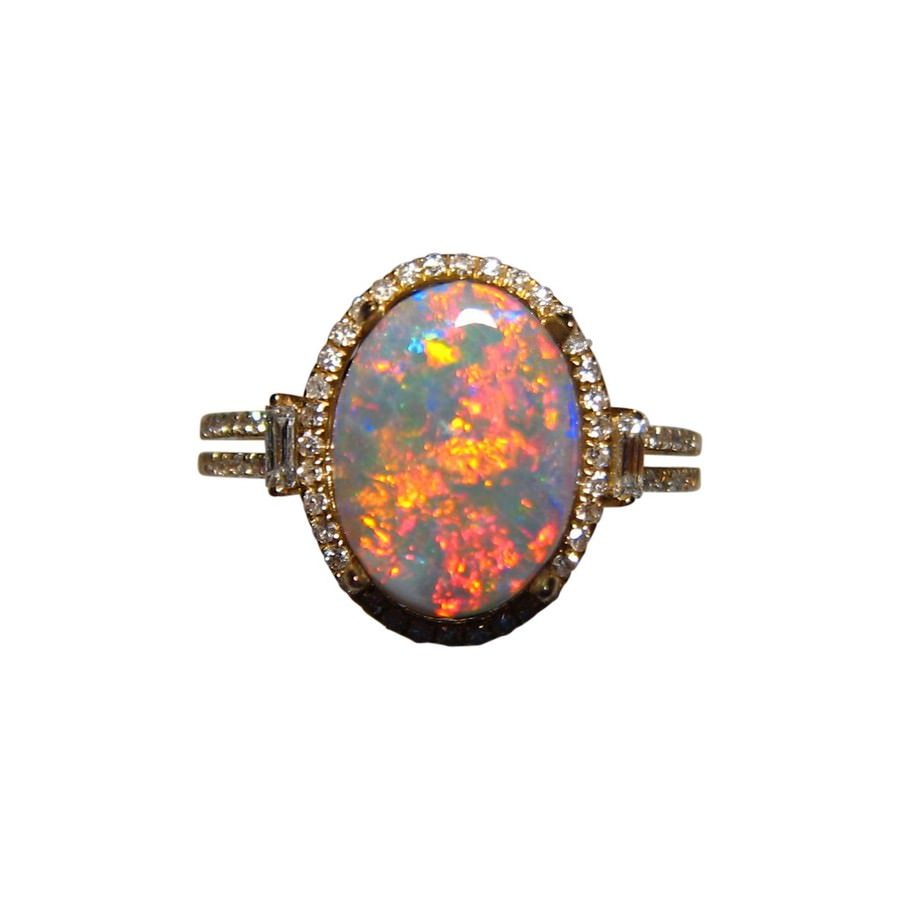 ring collection vintage black opal antique oval blackheath rings jewellery