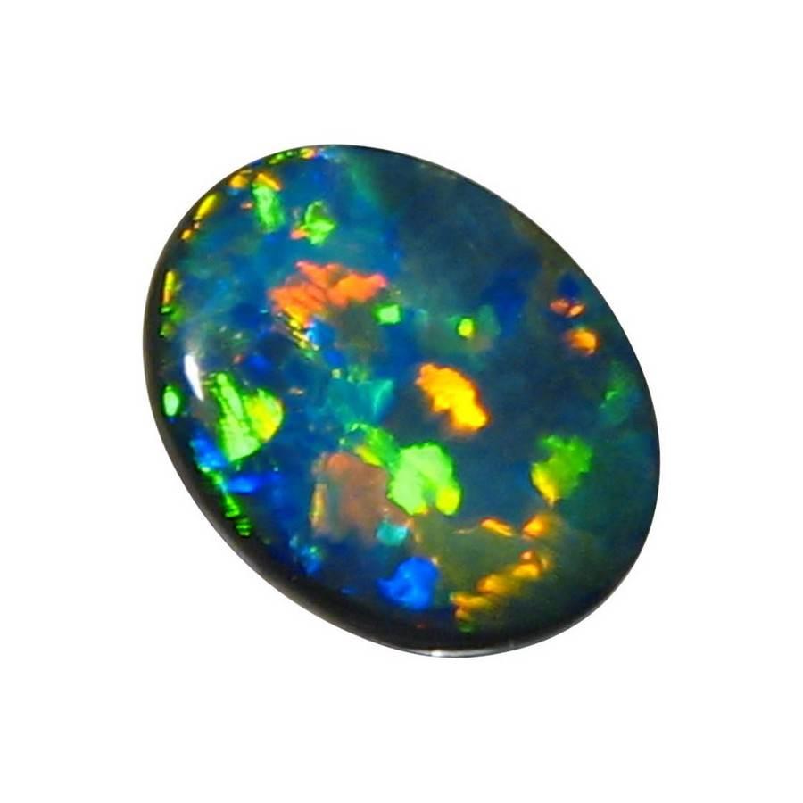 Rare Black Opal 2 54 Carat Puzzle Harlequin Black Opals