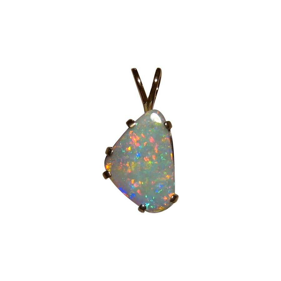 Semi black opal pendant 14k gold red blue flashopal semi black opal pendant 14k yellow gold red multi aloadofball Image collections