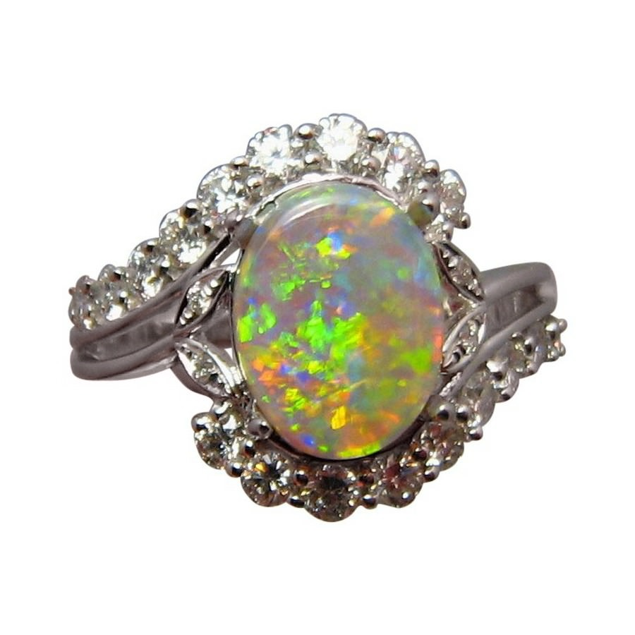 vibrant engagement bright gold and color oval crystal opal sale colors natural rings diamond ring colorful flashopal
