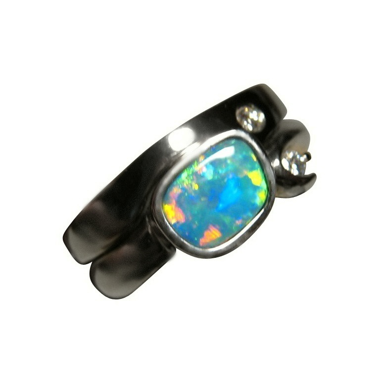 pin rings natural ring opal diamond white gold engagement halo