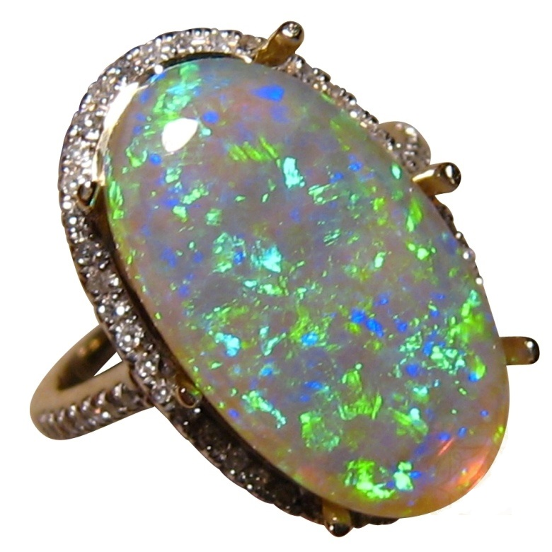 Best Of Opal and Black Diamond Rings