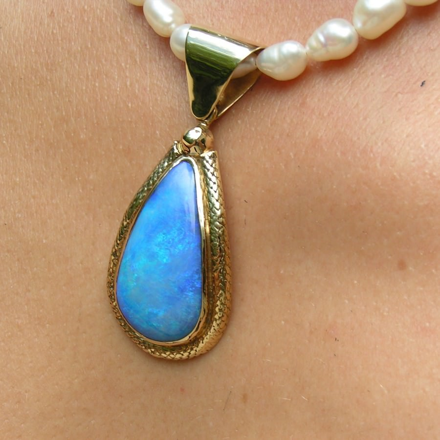 gift white birthstone valentine blue necklace opal fire pendant her pin day jewelry october ball for
