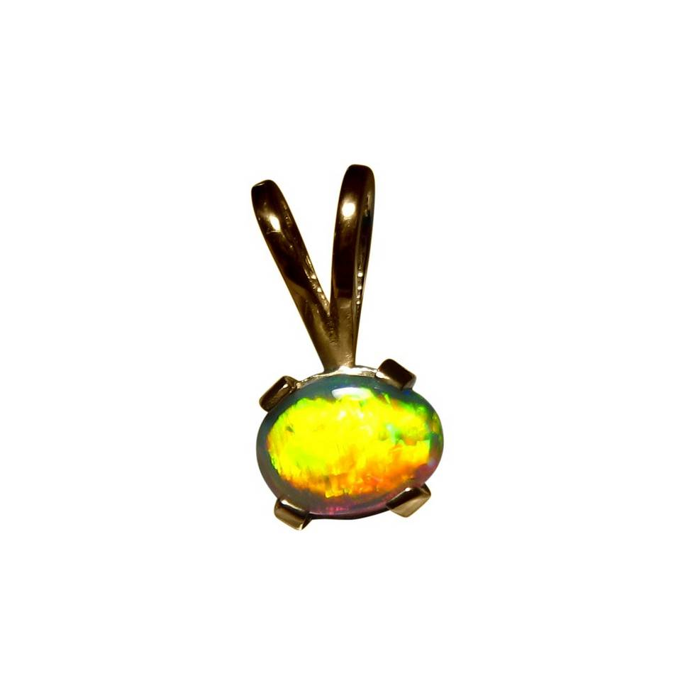 Small black opal gold pendant 14k black opal pendants flashopal black opal pendant 14k yellow gold bright gem aloadofball Choice Image