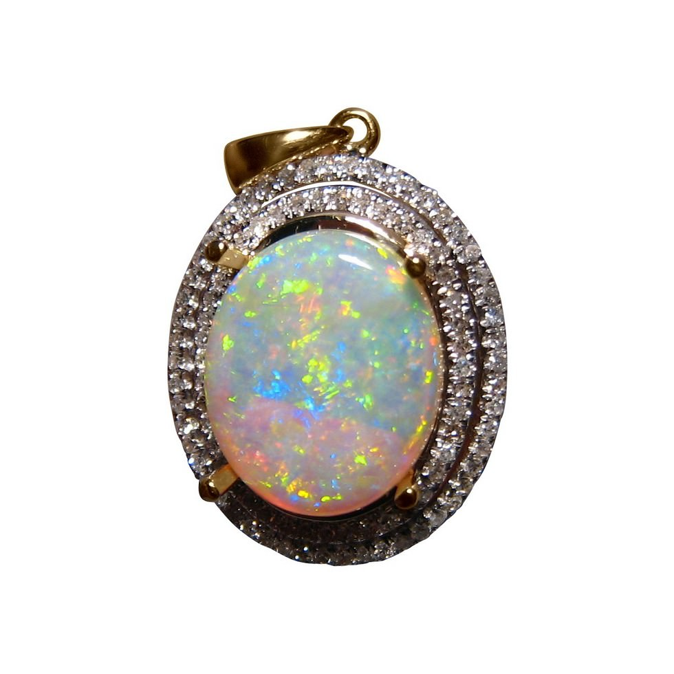 opal necklace product fire pendant custom made online