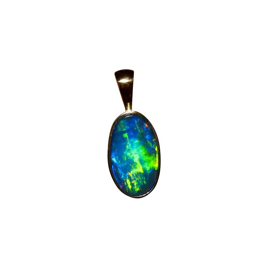 arthur jewelry silver sterling charm sop pendant hawaiian blue rhodium wave opal s products ocean
