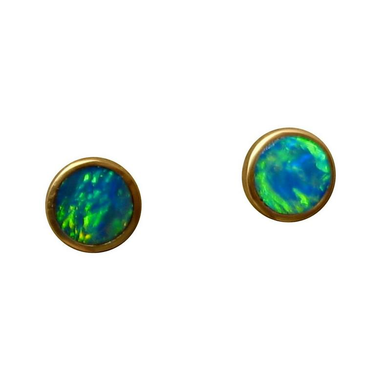 earrings ear cz earring blue sterling tiny with studs stud round opal skye liliana fire gold silver products piercing