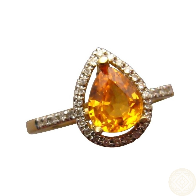 yellow sapphire and ring flashopal