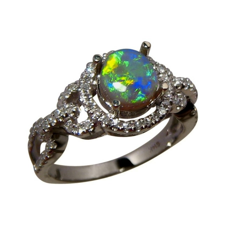 opal gold flashopal diamonds green black rings ring with blue