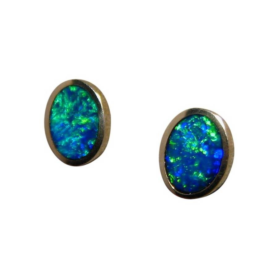 dangler inlaid blue silver green real sale flashopal for rectangle realr opal earrings
