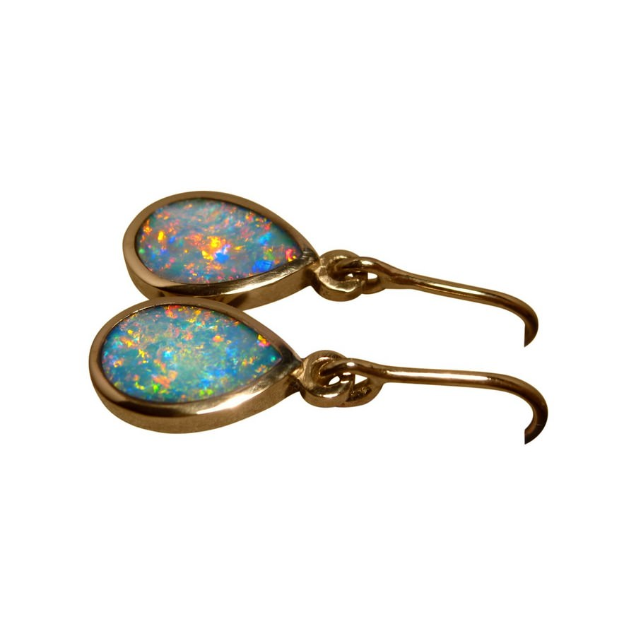 studs green gold real flashopal earrings jewelry opal white australian oval