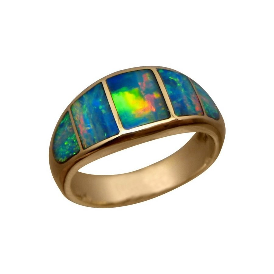 Ring Black Opal And Diamaond