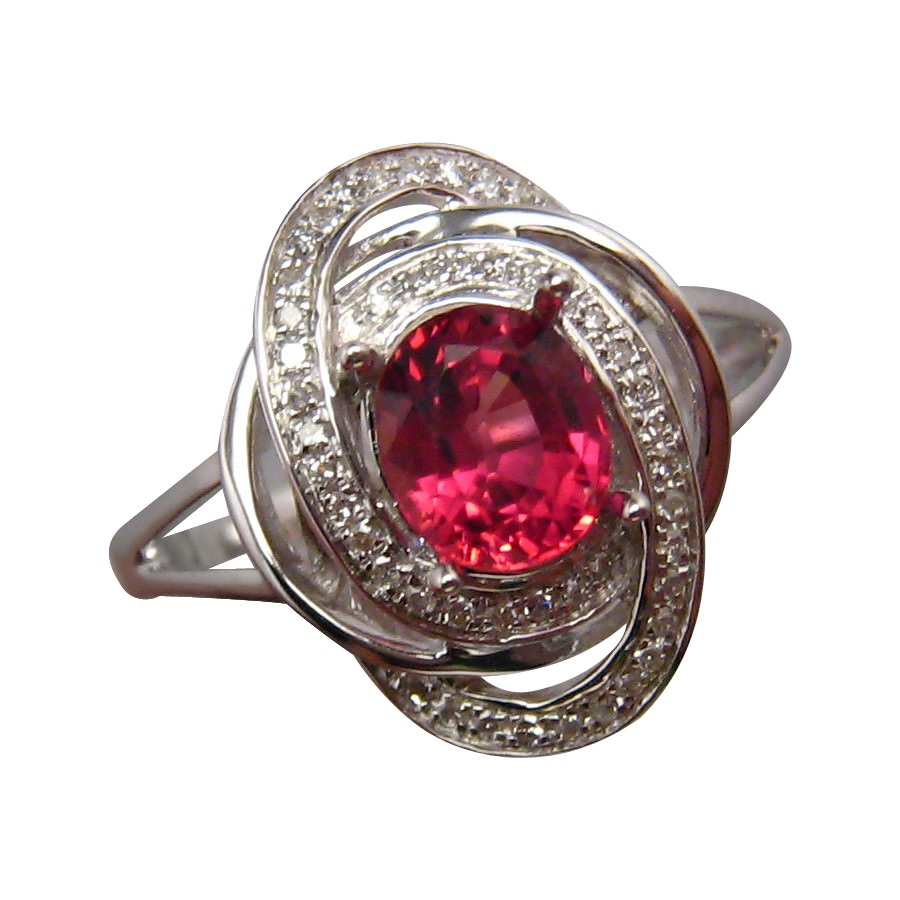 3c30517c75d17a Red Ruby and Diamond Ring 14k Gold | FlashOpal