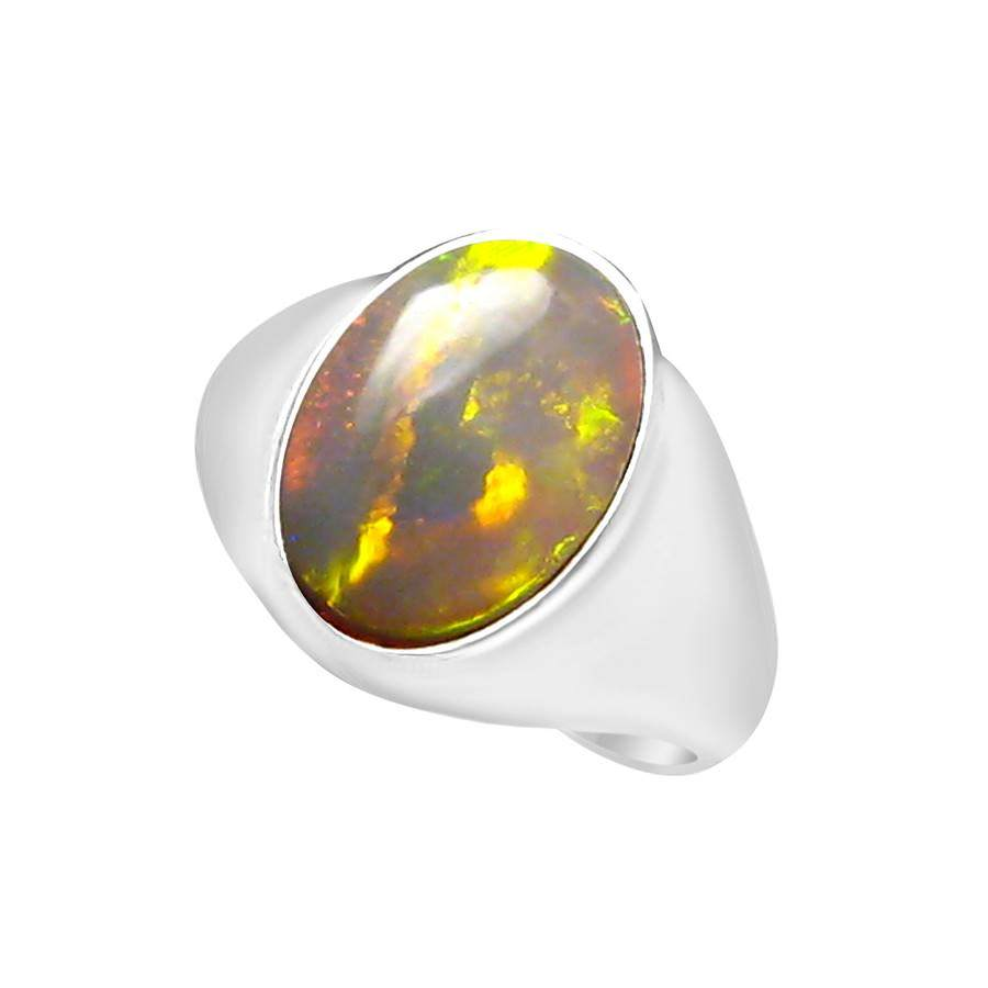 Mens Big Opal Ring 925 Sterling Silver Mens Opal Jewelry