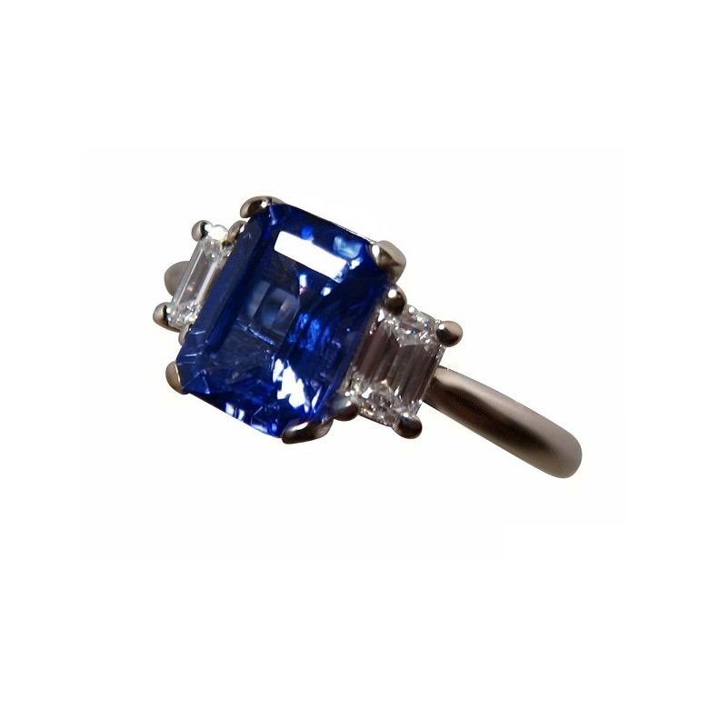 ring baguette main tanzanite lrg detailmain with phab white gold halo in cut diamond emerald