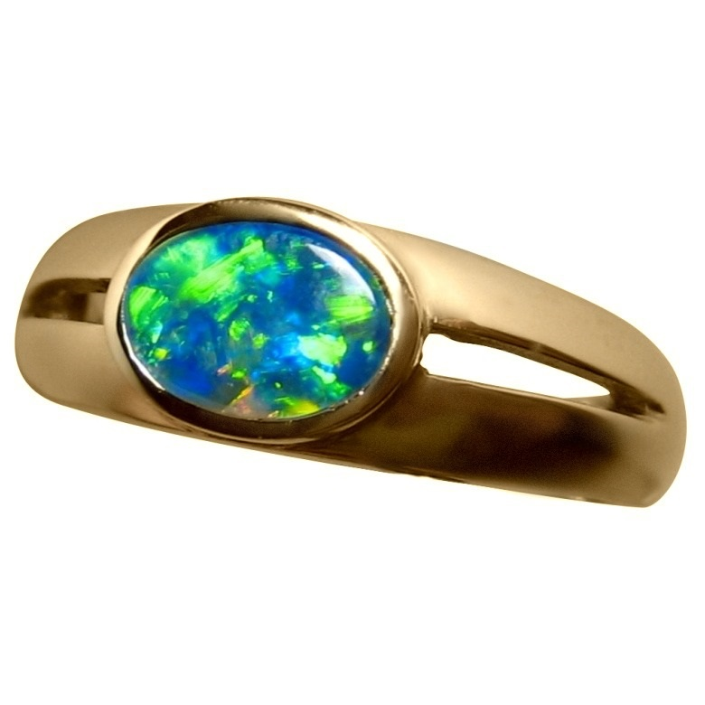 gold rose top revise brilliant earth ring opal cadence in